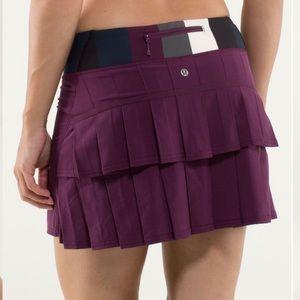 🌺Lululemon Pacesetter Skirt-Plum Pow Stripe🌺